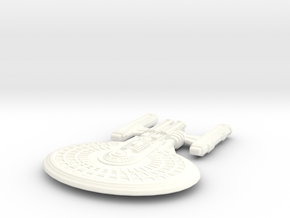 USS Vendetta (Class) in White Strong & Flexible Polished: Extra Large