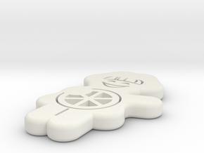 Meenzer Boebbsche 130mm in White Natural Versatile Plastic: Large