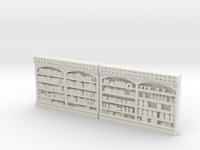Store Shelving Set #3, DETAILED HO scale in White Natural Versatile Plastic