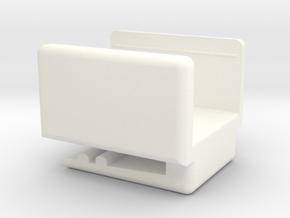 UNA - Amazon Dash (IoT) Button Belt Clip in White Processed Versatile Plastic