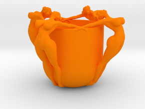 SEXY CUP IN 12CM 002 in Orange Strong & Flexible Polished