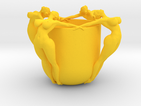 SEXY CUP IN 15CM 003 in Yellow Strong & Flexible Polished