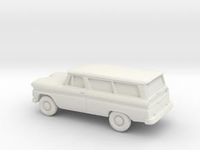 1/87 1960-61  Chevrolet Suburban in White Strong & Flexible