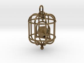 Platonic Birds - Icosahedron in Natural Bronze (Interlocking Parts)