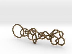 Chain1 in Natural Bronze (Interlocking Parts)