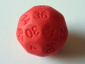 D36 Sphere Dice in Red Strong & Flexible Polished