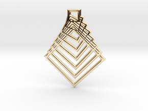 Square in 14k Gold Plated Brass
