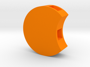 Circletop (orange) in Orange Strong & Flexible Polished