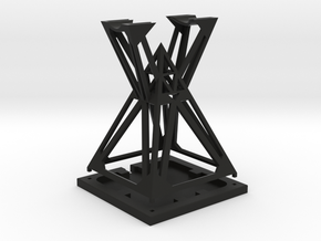 Stand Sith Holocron in Black Natural Versatile Plastic