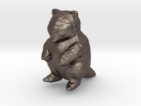 Sandshrew in Polished Bronzed Silver Steel