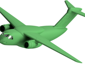 022D EMBRAER KC-390 1/200 in White Strong & Flexible