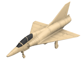 020H Mirage IIID 1/200 in Smooth Fine Detail Plastic