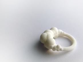 Cloud Ring side 7 in Smooth Fine Detail Plastic