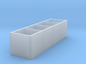 Miniature KALLAX Storage Shelf Unit - IKEA in Smooth Fine Detail Plastic: 1:24