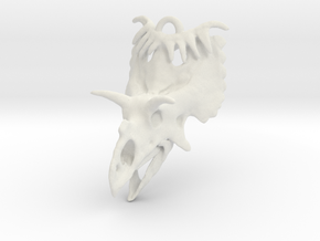 Kosmoceratops Earrings in White Strong & Flexible