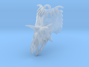 Kosmoceratops Earrings in Smooth Fine Detail Plastic