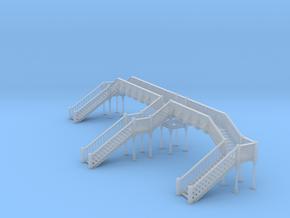 Footbridge 3 N Scale in Smooth Fine Detail Plastic