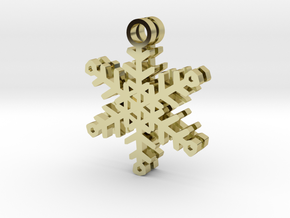 Flurry Snowflake Earrings in 18k Gold Plated Brass
