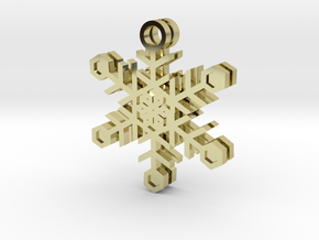 Ice Snowflake Earrings in 18k Gold Plated Brass