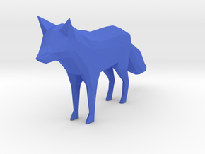 Low Poly Fox in Blue Processed Versatile Plastic