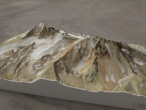 North and Middle Sister, Oregon, USA, 1:25000 in Full Color Sandstone