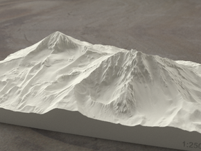 North and Middle Sister, Oregon, USA, 1:25000 in Sandstone