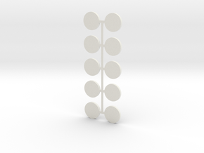 15x2mm MagBase X10 in White Natural Versatile Plastic