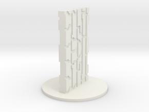 Monolith in White Natural Versatile Plastic