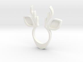Deer Ring in White Processed Versatile Plastic