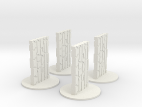 Monoliths in White Natural Versatile Plastic