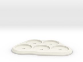 20mm 5-man MagTray in White Strong & Flexible