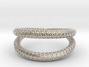 DRAGON Solid Duo, Ring Us Size 10, d=19,8mm in Rhodium Plated Brass: 10 / 61.5