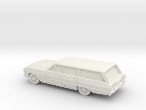 1/87 1963 Chevrolet Impala Station Wagon in White Natural Versatile Plastic