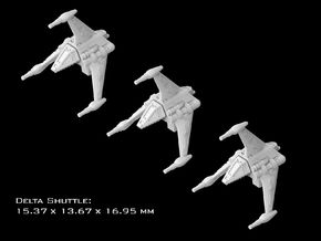 (Armada) 3x Delta Shuttle in Smooth Fine Detail Plastic