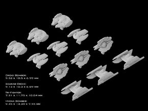 (Armada) Separatist Fighter Set 1 in Frosted Ultra Detail