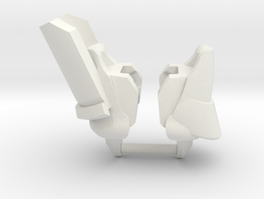 Jovian Shoulders in White Natural Versatile Plastic