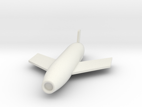 1/72 Scale SSM-N-8A Regulus I Missile in White Natural Versatile Plastic