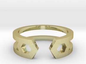 HH Ring Sharp, Us Size 8, 18,2mm in 18k Gold Plated Brass: 8 / 56.75