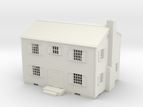 Atomic Test House in White Natural Versatile Plastic: 1:72