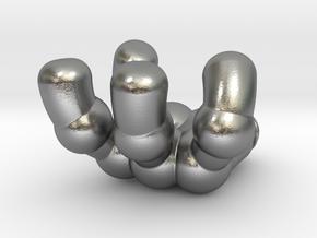 retro robot hand (right) in Natural Silver: Small