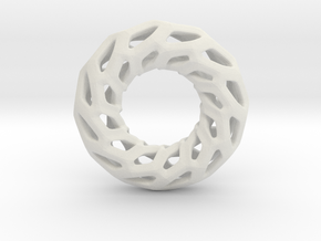 DRAGON, Omega Pendant. Solid Structure. Perfect Co in White Natural Versatile Plastic