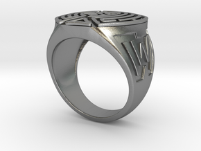 WestWorld maze Ring in Natural Silver: 8.5 / 58