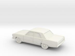 1/87 1970-72 Plymouth Valiant in White Natural Versatile Plastic