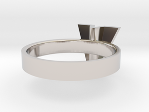 • b l o u •  Ring - Volume 1 - #3 in Rhodium Plated Brass: 6 / 51.5