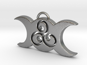 Triple Moon Triskele by ~M. in Natural Silver