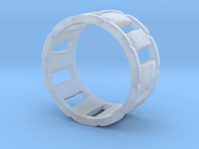 Stone Circle Ring in Smoothest Fine Detail Plastic: 7 / 54
