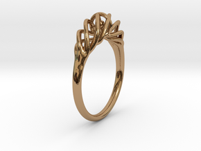 Twisted Ring Sizes 6-13 in Polished Brass (Interlocking Parts): 6 / 51.5