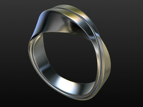 Mobius Strip Size 7 in Polished Bronze Steel