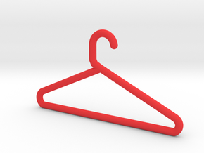 Hanger Keychain in Red Processed Versatile Plastic
