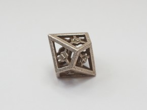 D10 Epoxy Dice in Stainless Steel